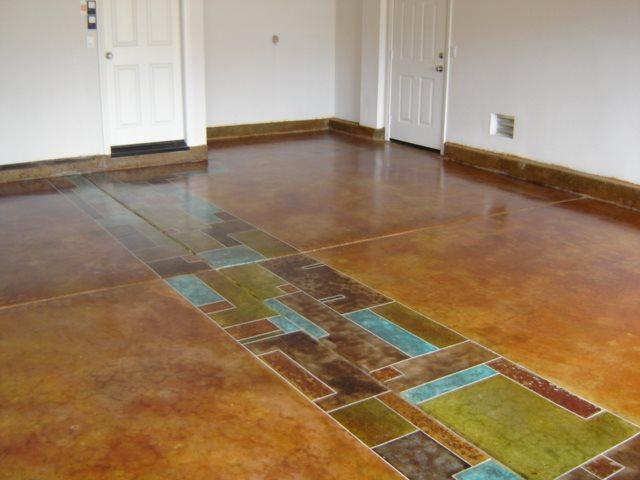 Photo gallery garage floors las vegas nv the for Colored concrete floors