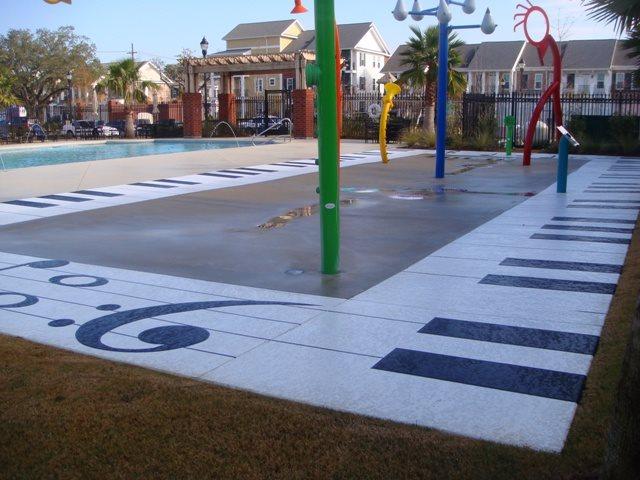 Splash Park Get the Look - Exterior Overlays Concrete Coatings Mandeville, LA