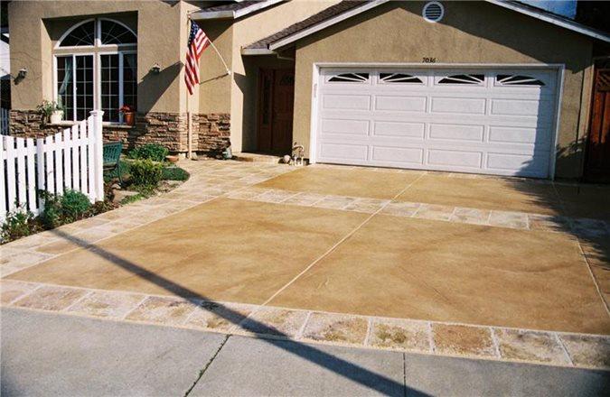 Stained Driveway, California Get the Look - Exterior Overlays Custom Concrete Resurfacing, Inc. San Jose, CA