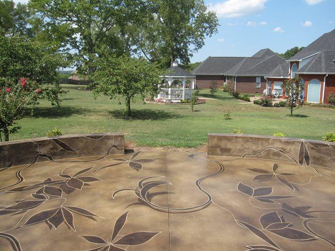 Get the Look - Exterior Staining Concrete Mystique Engraving Nashville, TN