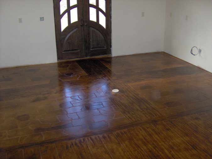 Custom Stained Concrete Floors : Photo gallery get the look stained floors schertz