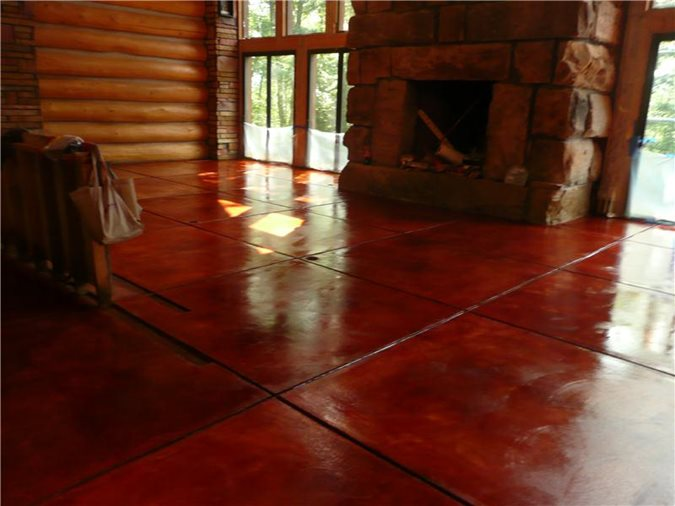 Get the Look - Stained Floors Decorative Concrete Institute Temple, GA