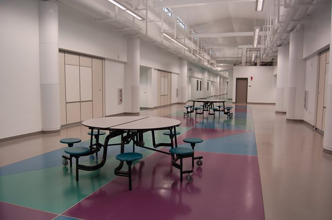 Middle School Floor, Colored Concrete Get the Look - Stained Floors Tyson's Inc Kailua, HI