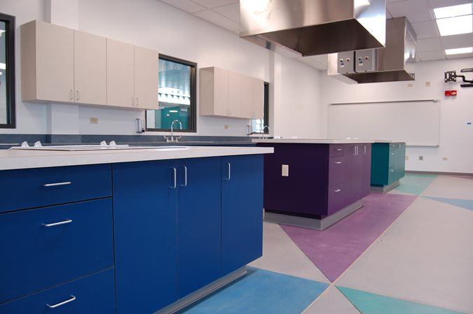 Middle School Science Classroom, Colored Concrete Flooring Get the Look - Stained Floors Tyson's Inc Kailua, HI