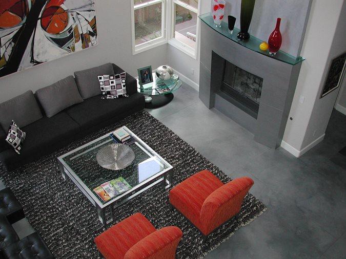 Dark Grey, Modern Gray Floors Masterpiece Concrete Compositions Oceanside, CA