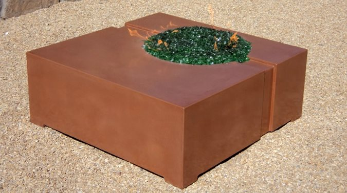 Custom Concrete Fire Feature Outdoor Fire Pits Homcrete Inc El Paso, TX