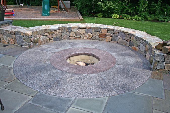 Fire Pit Seat, Fire Pit Outdoor Fire Pits New England Hardscapes Inc Acton, MA