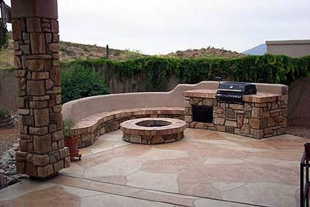 Large Stones, Round Outdoor Fire Pits KANSAS CONCRETE DESIGN HOLDEN, MO