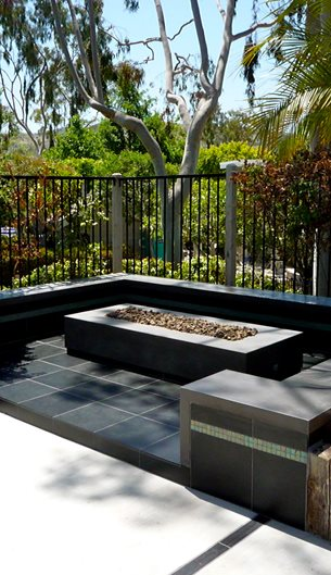 Photo gallery outdoor fire pits tustin ca the for Rectangular stone fire pit