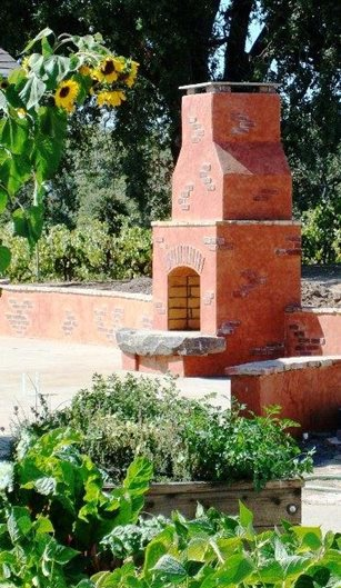 outdoor fireplace plans cinder - photo #41