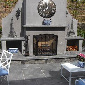 Outdoor Fireplaces Lasting Impressions in Concrete Petaluma, CA