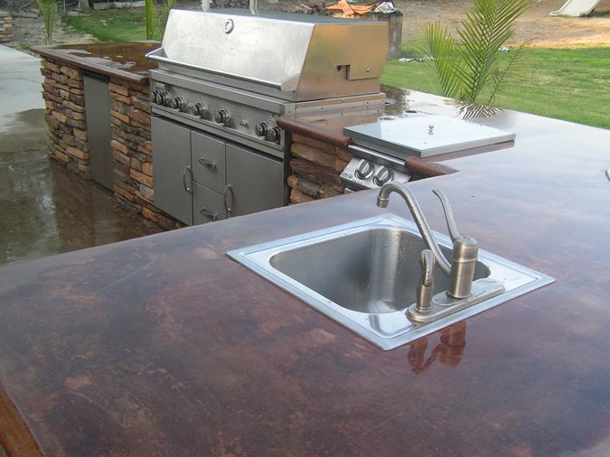 Outdoor Kitchen, Backyard Barbecue, Outdoor Kitchen Outdoor Kitchens Eilar Concrete Construction COLTON, CA