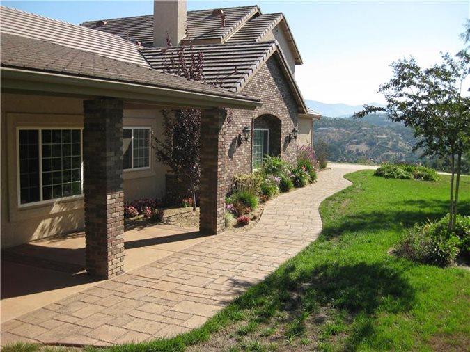 Concrete Walkway, Side Of House Capstone Concrete San Diego, CA