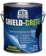 Acrylic Clear Glaze, Shield-Crete Products H&C Decorative Concrete Products Cleveland, OH