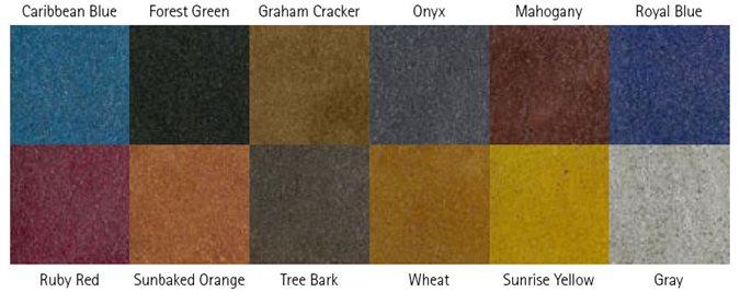 Concrete Dyes Chart Products Decorative Concrete Institute Temple, GA