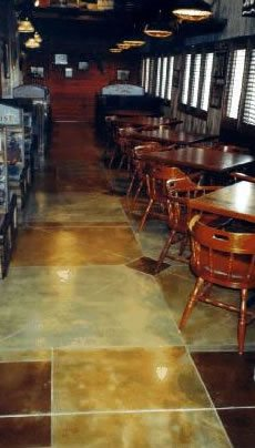 Stained Floor, Green, Brown Products Chem-Coat Industries, Inc Garland, TX