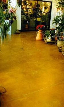 Stained Floor, Orange Products Chem-Coat Industries, Inc Garland, TX