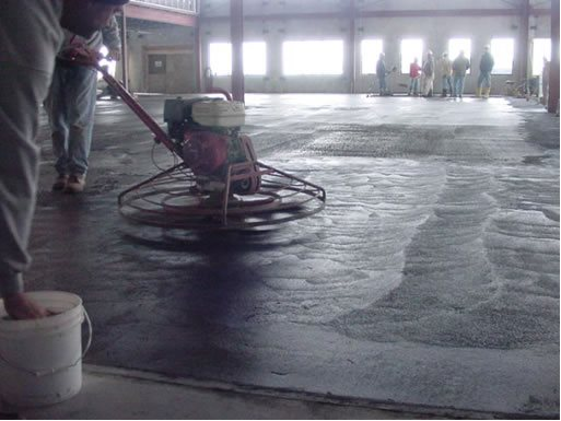 Applying Lifetime Floors Mosaic Product Site Stephens and Smith Construction Lincoln, NE