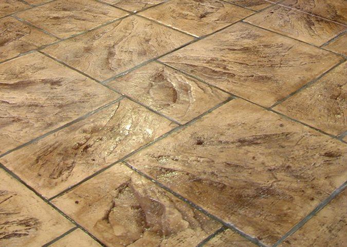 Ashlar Cut Slate, Stamped Concrete Site Brickform Rialto, CA