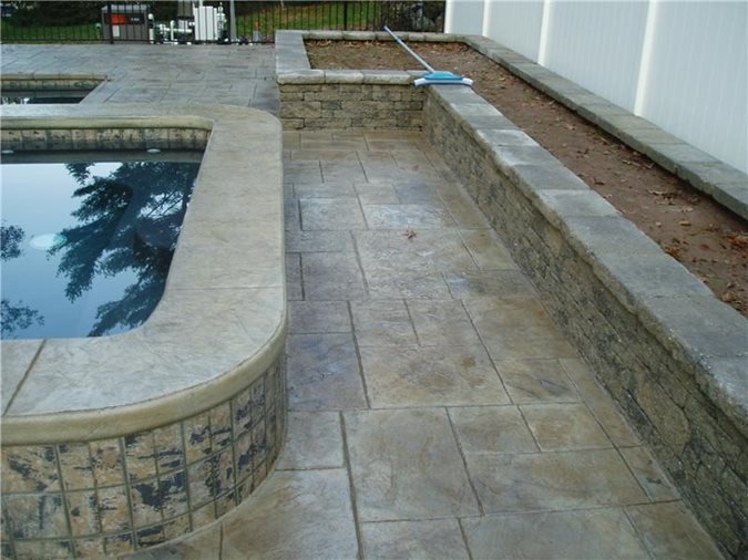 Ashlar Slate, Pool Deck Site Concrete Oasis Malvern, PA