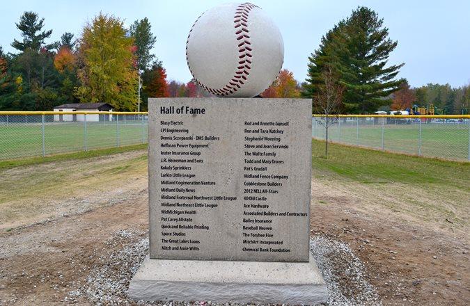 Baseball Monument Site Fisher Companies Midland, MI