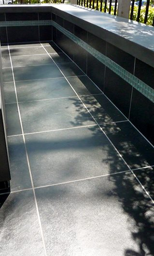 Black Outdoor Tile Site Opus Concrete Santa Ana, CA