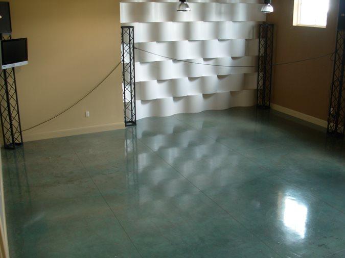 Blue, Acid Stain Site Innovative Concrete Surfaces, Inc Bonita Springs, FL