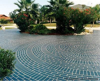 Blue, Brick Circles Site Engrave-A-Crete Mansfield, MO