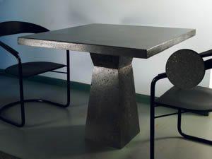 Breakfast Table, Slate Site Studio Concrete Spring City, PA
