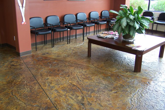 Brown Acid Stained Floor Site New Images Concrete Construction Lakeside, CA
