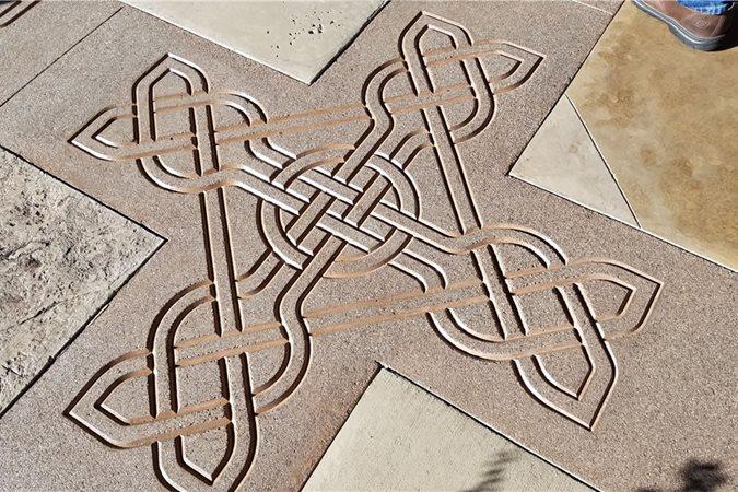 Celtic Knot, Concrete Stencil Site Solomon Colors