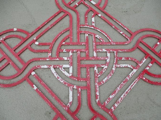 Celtic Knot Stencil Site Brickform Rialto, CA