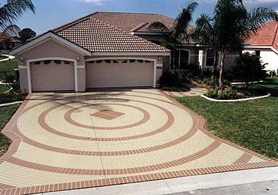Circles, Brick Site Thomas and Sons Custom Concrete Engraving Anaheim, CA