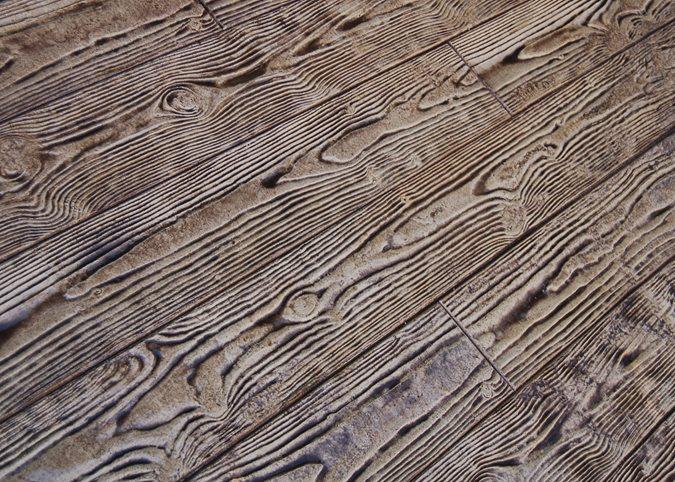Classic Wood Pattern, Stamped Concrete Site Brickform Rialto, CA