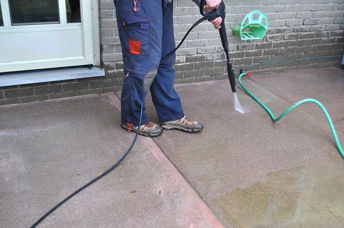Cleaning Patio, Cleaning Concrete, Pressure Wash Site Shutterstock