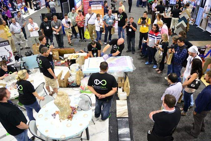 Concrete Decor Show, Demonstration Site Concrete Decor Show