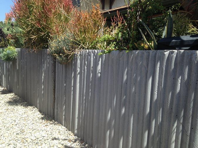 Concrete Fence Site Culloton Design Los Angeles, CA