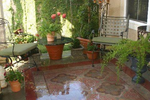 Concrete Patio, Rug Site Faux Villa Decorative Finishes Studio ,