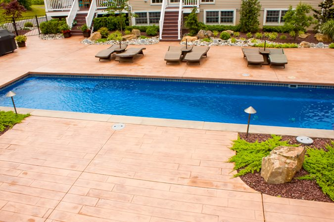 Photo gallery site linden nj the concrete network for Local pool contractors