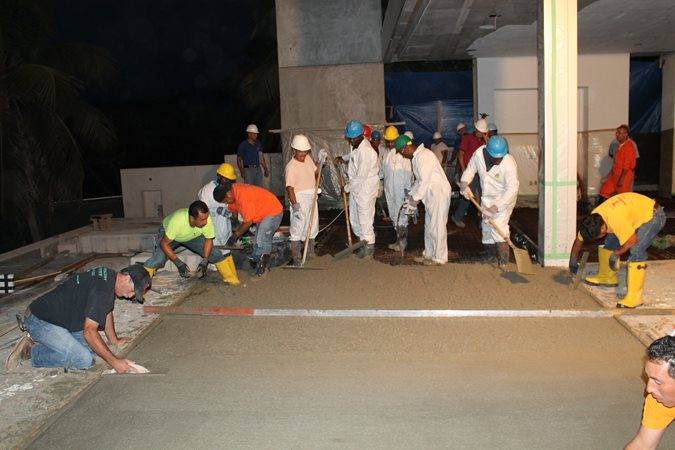 Concrete Pour, Concrete Crew Site Tom Ralston Concrete Santa Cruz, CA