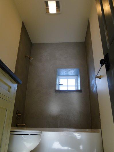 Concrete Shower Site Tellus 360 Design & Build Lancaster, PA