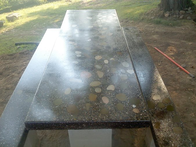 Concrete Table, Concrete Benches Site Rosebud Concrete Myerstown, PA