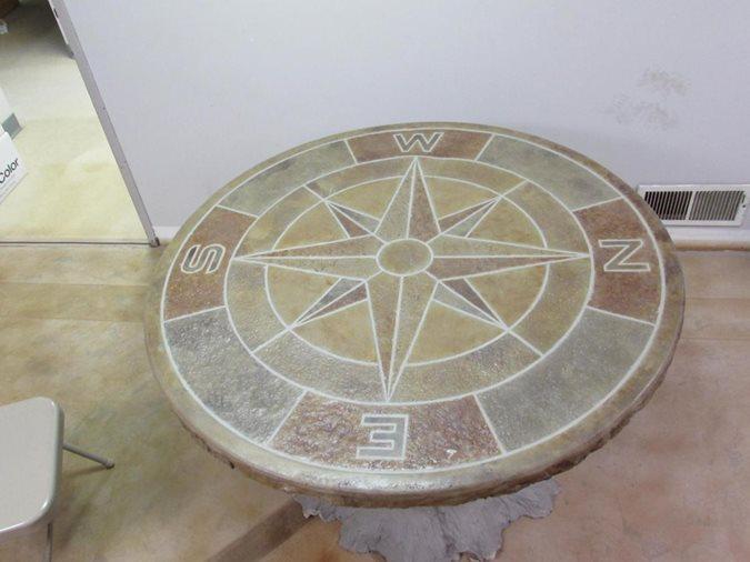 Concrete Table Top, Compass Mold Site Deco-Crete Supply Orrville, OH