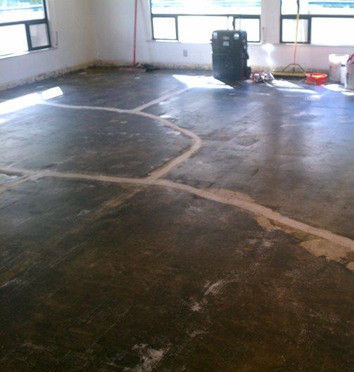 Cracked Concrete Subfloor Site Covalt Floor Leveling, Inc. San Juan Capistrano, CA