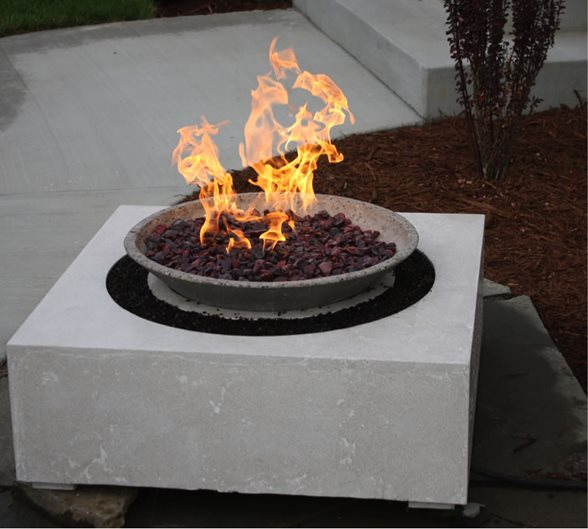 Custom Concrete Fire Pit Site Living Stone Concrete Design Candler, NC