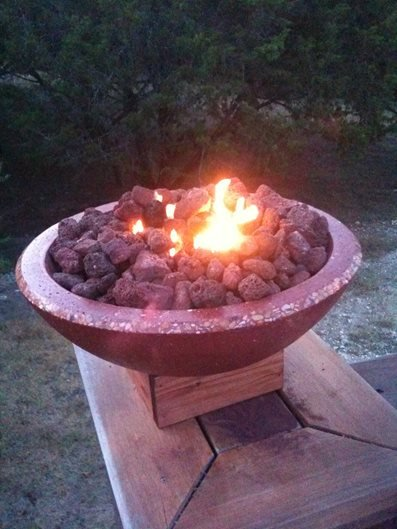 Custom Concrete Firebowl Site Homcrete Inc El Paso, TX