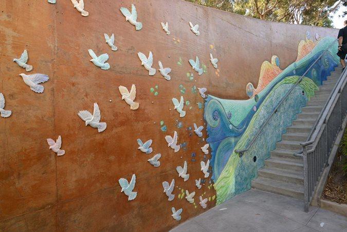 Decorative Concrete, Dove Wall Site Concrete Decor Show