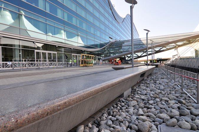 Denver Airport, South Terminal, Polished Concrete Site Colorado Hardscapes Denver, CO