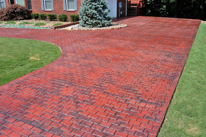 Driveway, Red, 4 In 1 Overlay Site Artistic Polymers Inc. ,