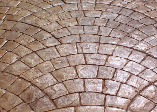 European Fan Design, Stamped Concrete Site Brickform Rialto, CA